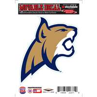 Montana State Bobcats Repositionable Vinyl Decal
