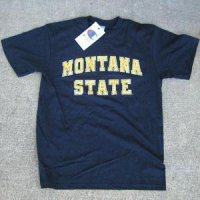 Montana State T-shirt By Champion, Arched Print, Navy
