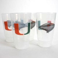 Miami Plastic Tailgate Cups - Set Of 4