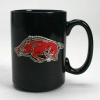 Arkansas 15oz Black Ceramic Mug