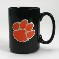 Clemson 15oz Black Ceramic Mug