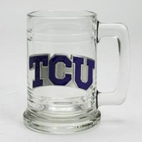 Tcu 16oz Glass Tankard