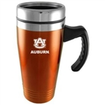 Auburn Tigers Engraved 16oz Stainless Steel Travel Mug - Orange