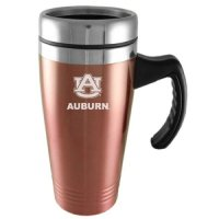 Auburn Tigers Engraved 16oz Stainless Steel Travel Mug - Pink