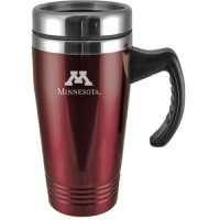 Minnesota Golden Gophers Engraved 16oz Stainless Steel Travel Mug - Burgundy