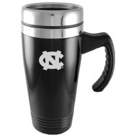 North Carolina Tar Heels Engraved 16oz Stainless Steel Travel Mug - Black
