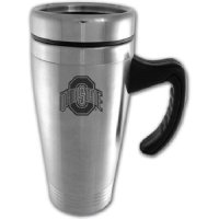 Ohio State Buckeyes Engraved 16oz Stainless Steel Travel Mug - Silver
