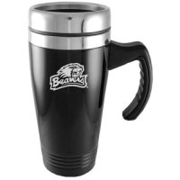 Oregon State Beavers Engraved 16oz Stainless Steel Travel Mug - Black