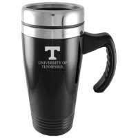 Tennessee Volunteers Engraved 16oz Stainless Steel Travel Mug - Black