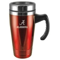 Alabama Crimson Tide Engraved 16oz Stainless Steel Travel Mug - Red