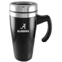 Alabama Crimson Tide Engraved 16oz Stainless Steel Travel Mug - Black