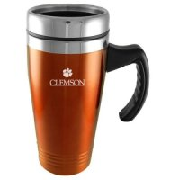 Clemson Tigers 16oz Stainless Steel Travel Mug - Orange