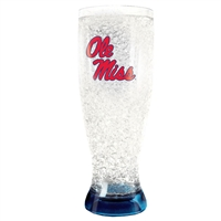 Ole Miss Rebels - 16oz Flared Pilsner Freezer Glass