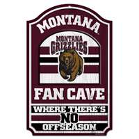 Montana Grizzlies Fan Cave Wood Sign