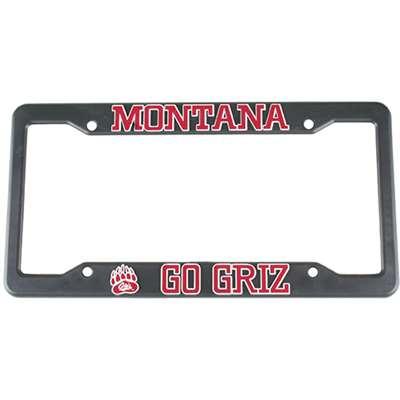 Montana Grizzlies Plastic License Plate Frame