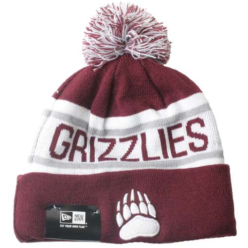buy popular 04195 10281 Montana Grizzlies New Era Biggest Fan Knit Beanie