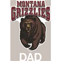 Montana Grizzlies Transfer Decal - Dad