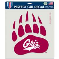 "Montana Grizzlies Full Color Die Cut Decal - 8"" X 8"""