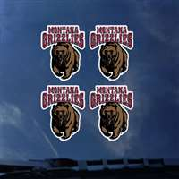 Montana Grizzlies Transfer Decals - Set of 4