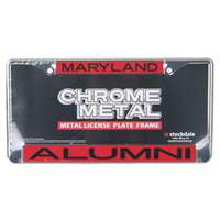 Maryland Terrapins Metal Alumni Inlaid Acrylic License Plate Frame