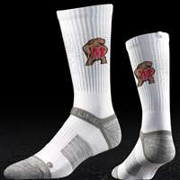 Maryland Terrapins Strideline Strapped Fit 2.0 Socks - White