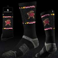 Maryland Terrapins Strideline Strapped Fit 2.0 Socks - Black