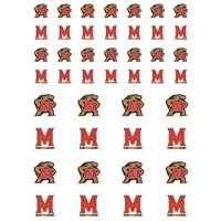 Maryland Terrapins Small Sticker Sheet - 2 Sheets
