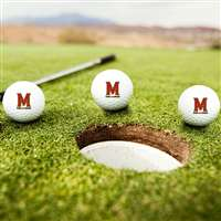 Maryland Terrapins Golf Balls - Set of 3