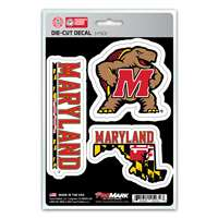 Maryland Terrapins Decals - 3 Pack