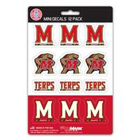 Maryland Terrapins Mini Decals - 12 Pack