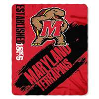 Maryland Terrapins Painted Fleece Throw Blanket