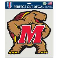 "Maryland Terrapins Full Color Die Cut Decal - 8"" X 8"""