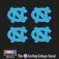North Carolina Tar Heels Decal - Small Nc Logo - 4 Decals