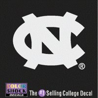 North Carolina Tar Heels Decal - Nc Logo - White