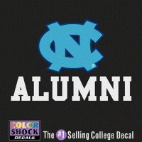 North Carolina Tar Heels Decal - Nc Logo Over Alumni