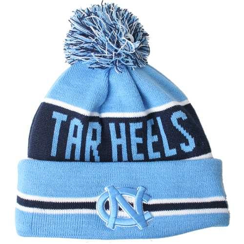North Carolina Tar Heels New Era The Coach Pom Knit Beanie 33ed05a5549