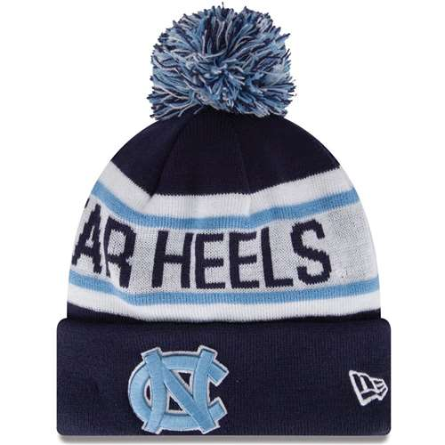 różne wzornictwo oficjalny sklep uroczy North Carolina Tar Heels New Era Biggest Fan Knit Beanie
