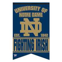 "Notre Dame Fighting Irish Premium Felt Banner - 17"" X 26"""