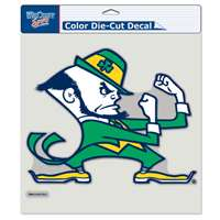 "Notre Dame Full Color Die Cut Decal - 8"" X 8"" - Leprechaun Logo"