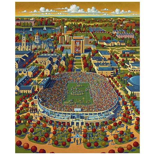 notre dame fighting irish stadium puzzle  piece