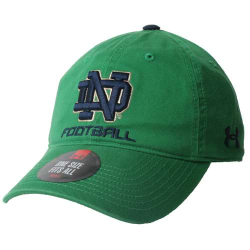 Notre Dame Fighting Irish Under Armour Relaxed Cotton Adjustable ... 18ae426db8f
