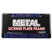 Notre Dame Fighting Irish Metal Inlaid Acrylic License Plate Frame
