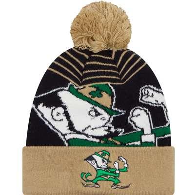 9083df54416 Notre Dame Fighting Irish New Era Logo Whiz 2 Pom Knit Beanie