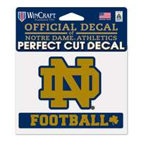 "Notre Dame Fighting Irish Perfect Cut Football Decal - 4.5"" x 5.75"""