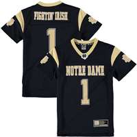 Notre Dame Colosseum Youth Football Jersey - Navy #1
