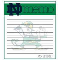 Notre Dame Fighting Irish Memo Note Pad - 2 Pads