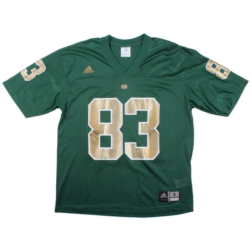 Notre Dame Fighting Irish Replica Adidas Fb Jersey - Green #83