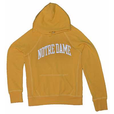 Notre Dame Ladies Hoody By League Yellow