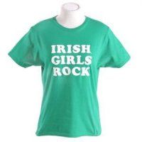 Notre Dame T-shirt By Champion - Irish Girls Rock - Kelly Green