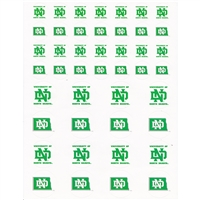 North Dakota Fighting Sioux Small Sticker Sheet - 2 Sheets